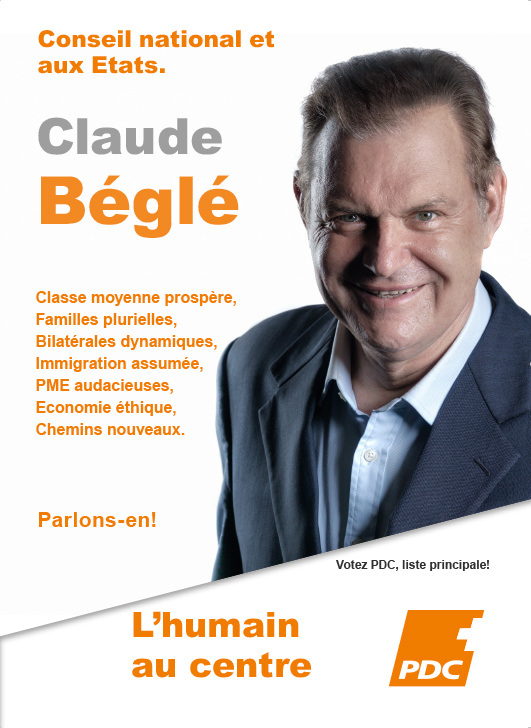 Flyer Claude Béglé recto